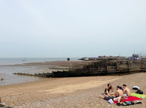 Beach next to the Viking Trail - west of Margate