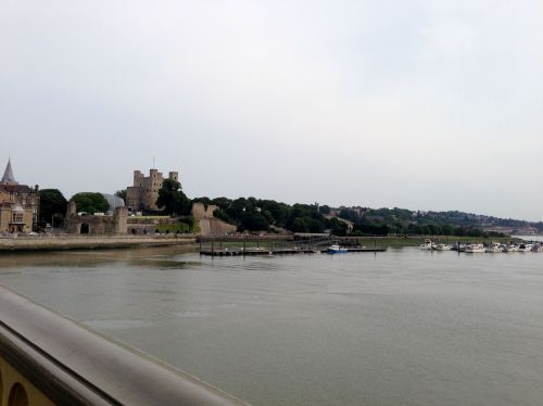 Rochester Castle from the River Medway