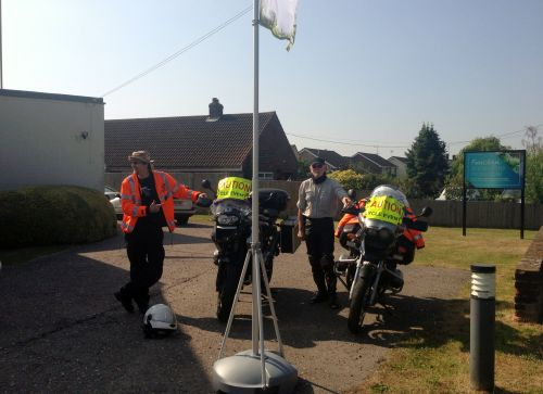 Motorbike Marshals - they accompanied us along the route