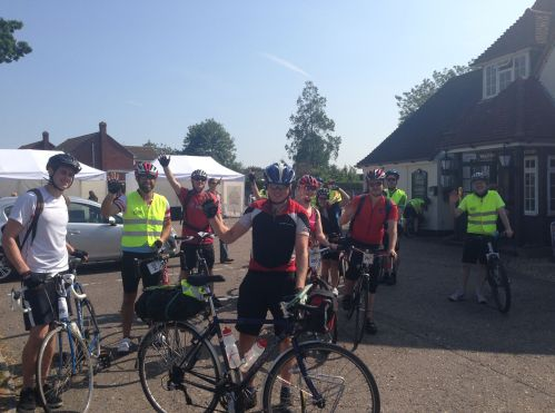 Group 1 ready to leave on Tour de Latitude
