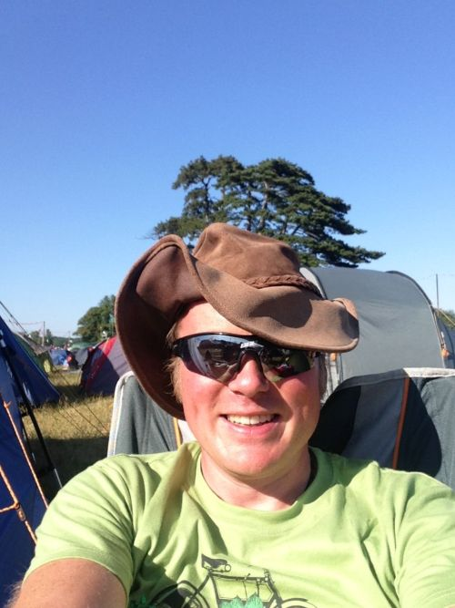 All ready to go at Latitude, 5,000 odd miles had squashed my hat