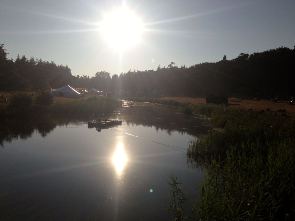 Sunshine over the lake at Latitude