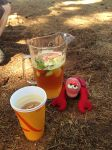 Lobster with the Pimms, he'd earned it