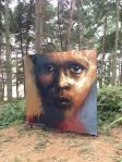 Cool paintings in the woods