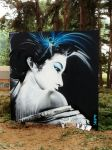 Cool paintings in the woods - really like this one