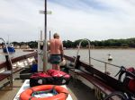 On board the ferry over the River Deben