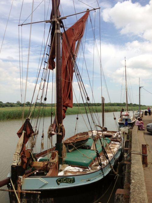 Wherry Boat on the River Alde