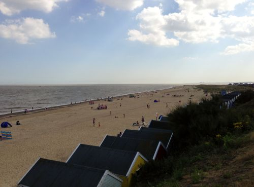 Southwold beach and beach huts