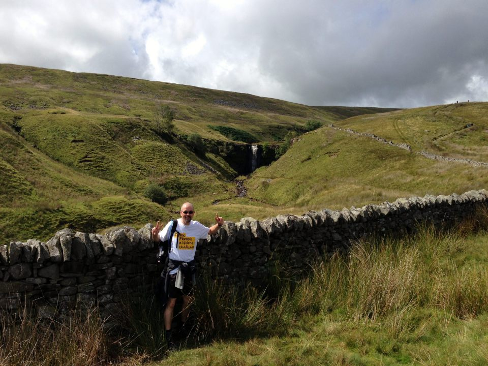 Ascending Whernside - waterfall