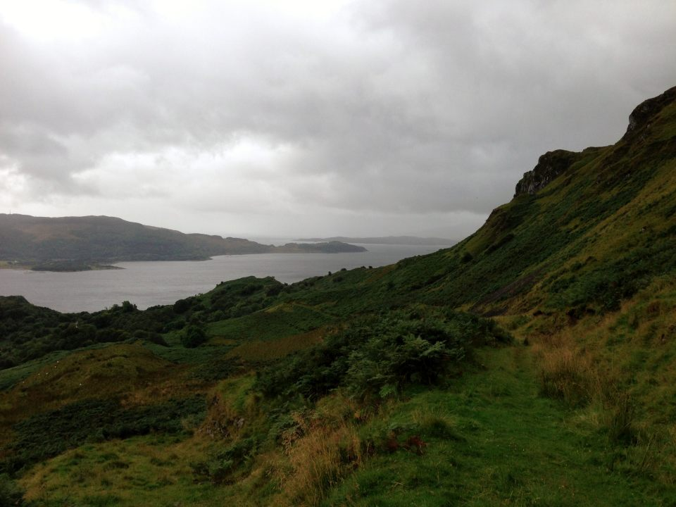 Looking down from the hills above Loch Melfort