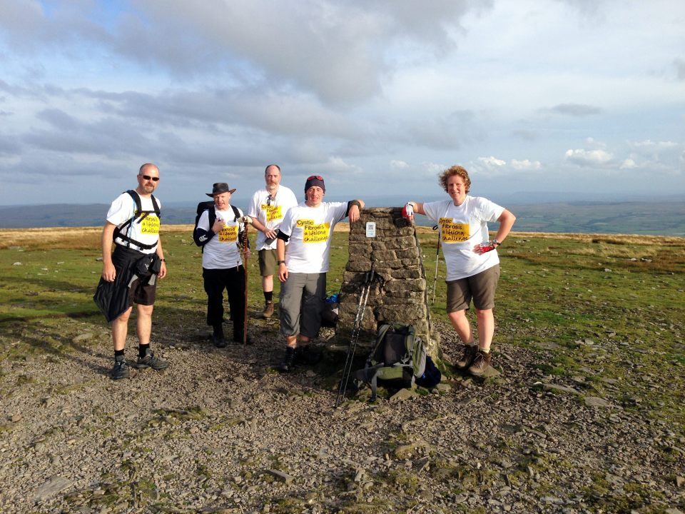 Ingleborough summit - we made it