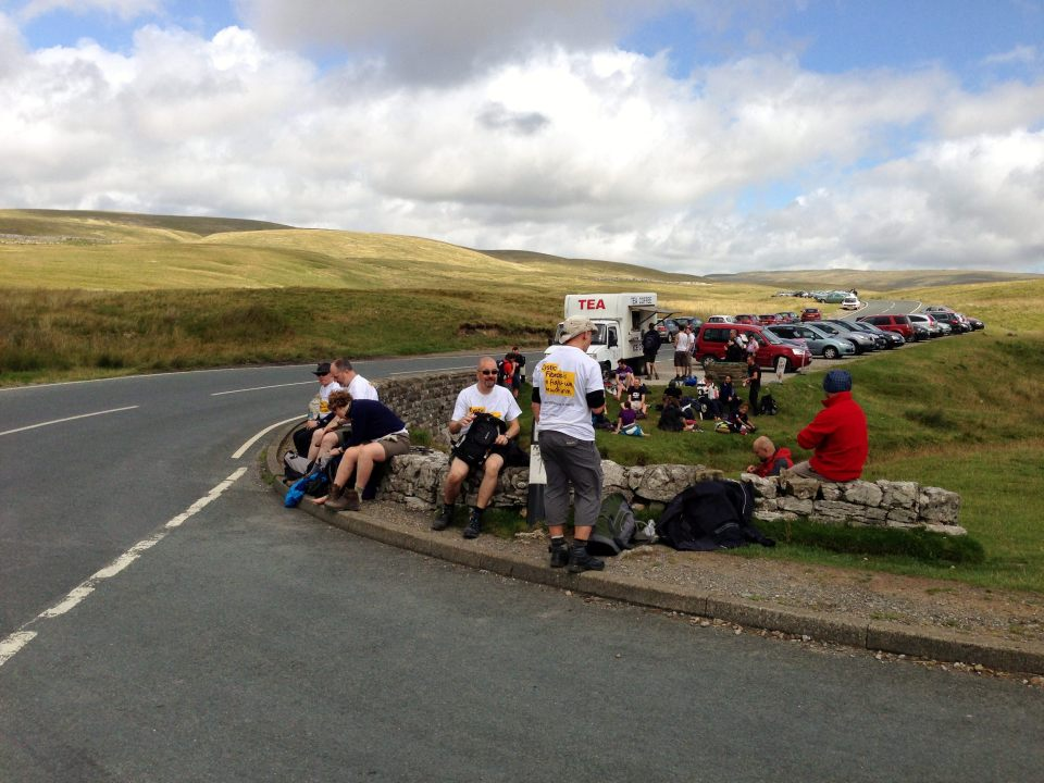 Lunch stop - bacon roll ahoy