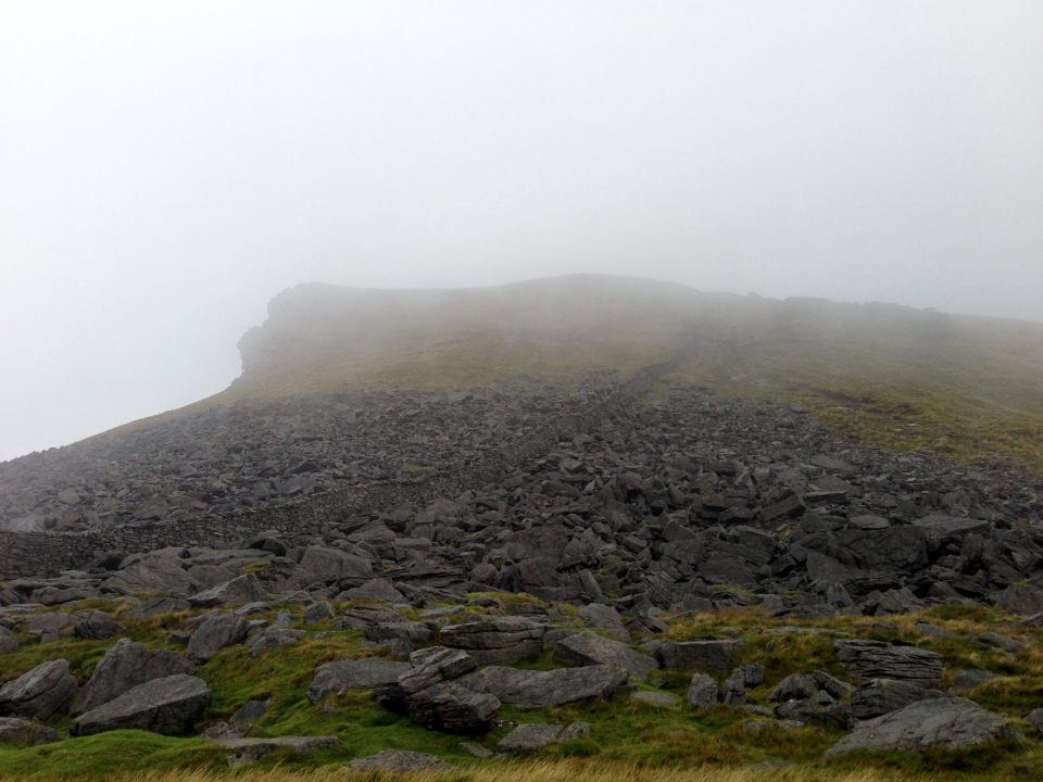 Pen y Ghent - low cloud abounds