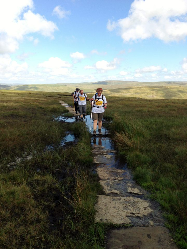 Whernside stepping stones - don't stray from the path