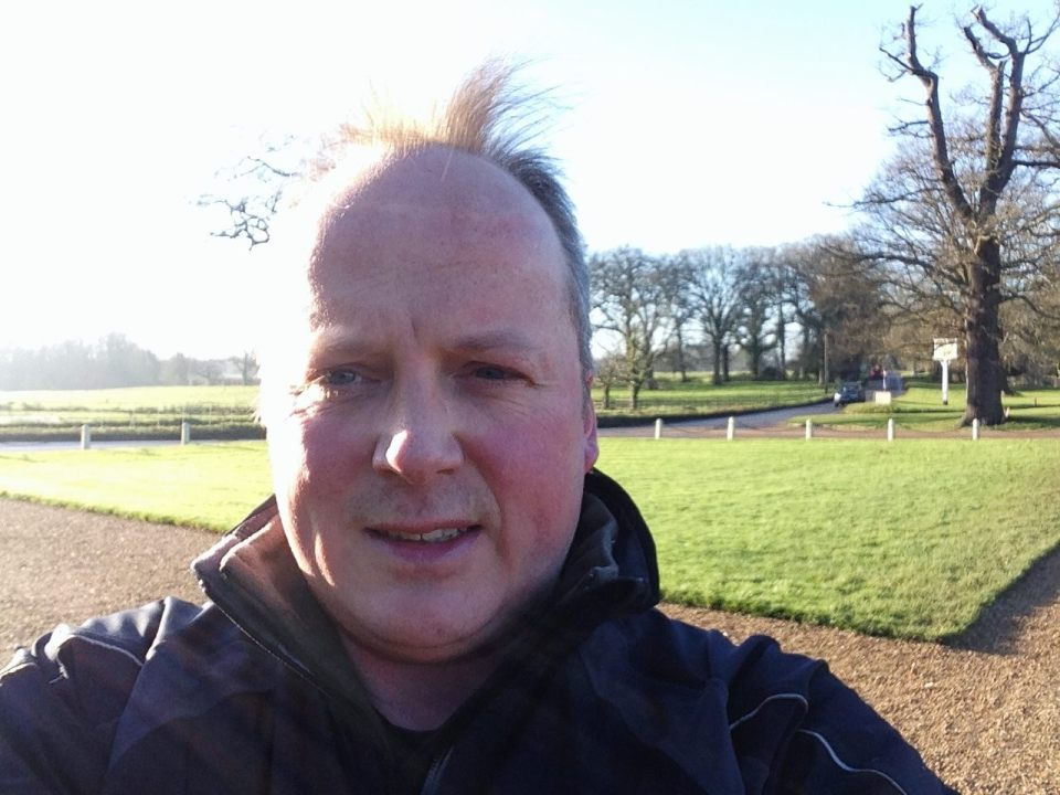 Blickling Hall - me and spiky hairdo