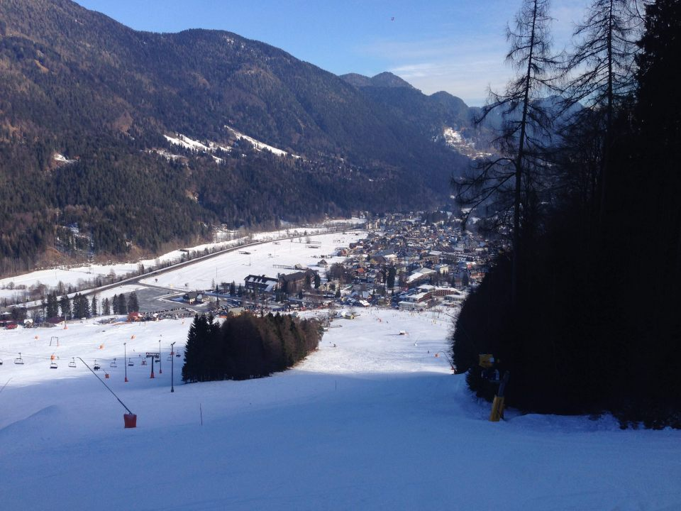 Kranjska Gora - near the top of chair lift 2