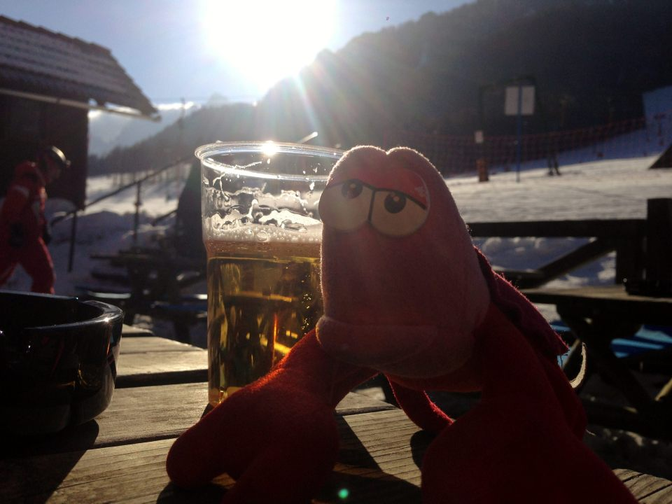 Kranjska Gora -Travelling Lobster with beer