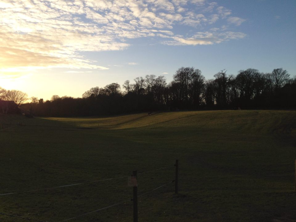 Sun getting lower near Old Catton