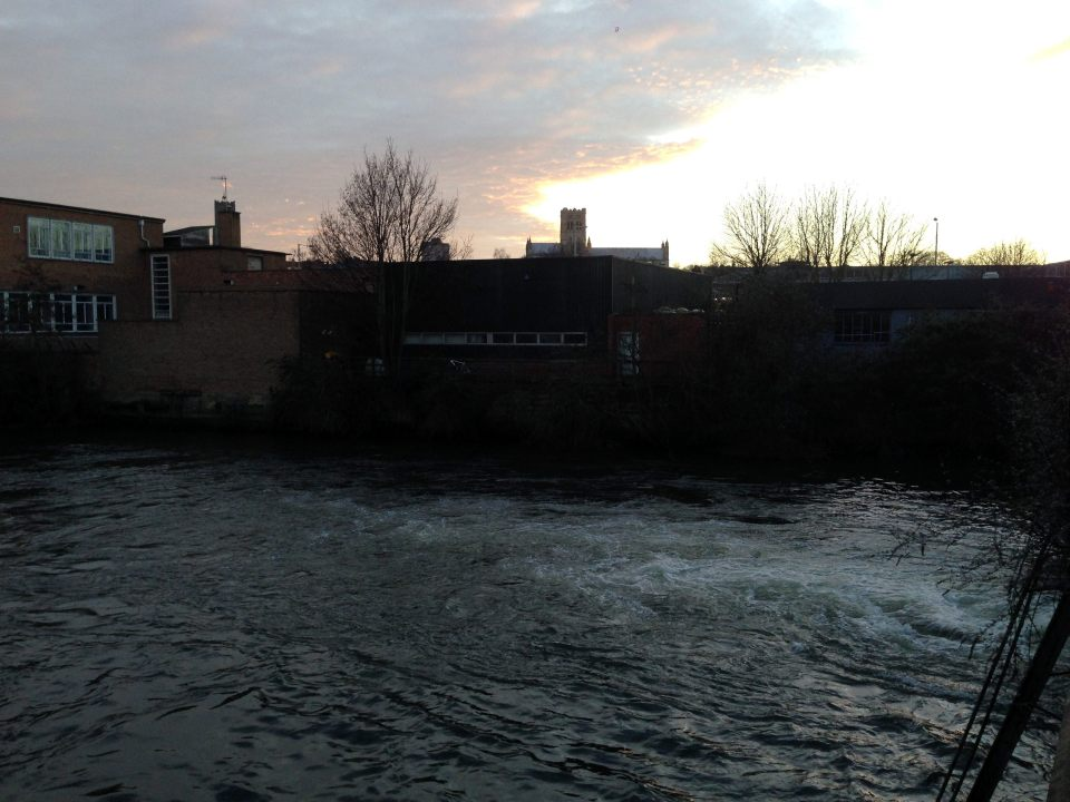 Back in Norwich - river looks on the chilly side